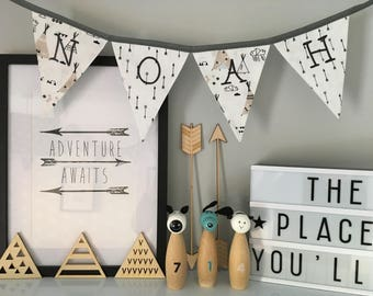 Teepee and Arrow Personalised Bunting