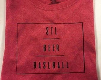 STL, Beer, Baseball Shirt