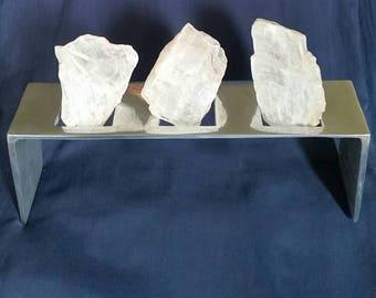 Selenite Crystal Home & Office Decor // Power of Three // White Light Protection // Healing Selenite Stones // Meditation Gemstones