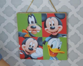 Disney Characters Mickey, Donald, and Goofy Picture Dollhouse Decor for American Girl and other 18 inch dolls
