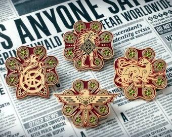 "Fantastic Beasts themed ""Ilvermorny"" School Houses Enamel Lapel Pin(s) - Choose one"