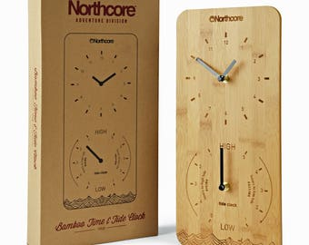 Northcore Time and Tide Bamboo Wall Clock