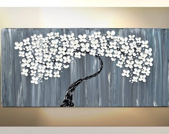 Paintings on Canvas, Abstract Art, paintings, Original art, canvas art, canvas art quote, home decor, impasto, mixed media, flower art