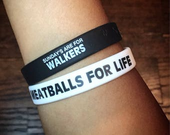 Graphic Silicone WristBands Meatballs Bracelet TWD Bracelet