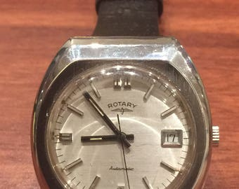 RESERVED. 1960's Vintage Rotary Steel Gents' Wristwatch with Date. Automatic movement.