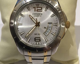 Citizen Quartz S/Steel Gents' Watch with date display