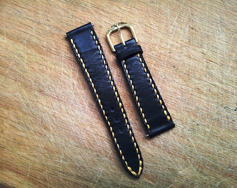 Leather strap 18 mm handmade