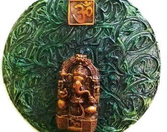 Ethnic Home Decor, Spiritual Decor, Religious Art Decor, Ganesha Hanging Decor, Hindu Religious Decor, Unique Home Decor, Elephant God