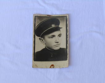 antique black and white groom boy photo, Black and white photo, Antique photo, vintage photo, found photo, real photo, collectible photo