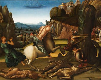 Poster, Many Sizes Available; Saint George And The Dragon By Luca Signorelli