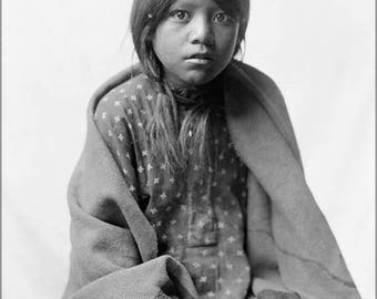 20% Off Sale - Poster, Many Sizes Available; Taos Girl Native American Indian By Edward S. Curtis 1905