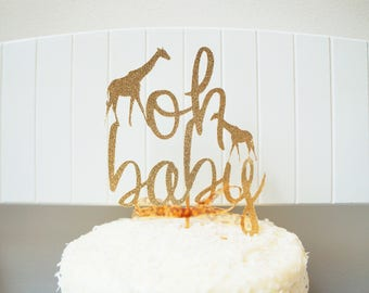 Giraffe Oh Baby Cake Topper