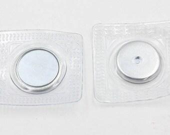 6Sets invisible Magnetic Fastener Snaps, Purse Handbag Clasp Closures, Metal Magnet buttons, Bag Coat Supplies, Silver Super Magnetic Buckle