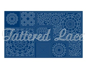 Carte de scène Kaléidoscope, meurt, stanzschablonen, matrices de lambeaux de dentelle