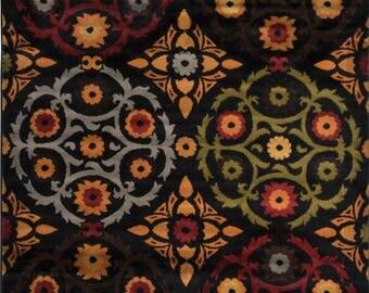 "Black Transitional Area Rug 8x10 Casual Floral Carpet - Actual 7' 8"" x 10' 4"""