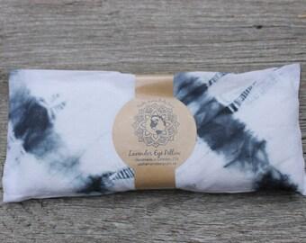 Lavender Eye Pillow • White & Blue Tie Dye  • Yoga • Calm  • Eye Cover • Meditation • Organic Body Care