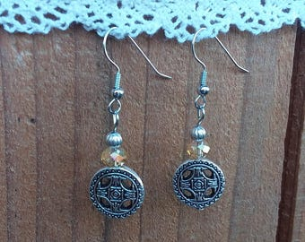 Handmade Celtic style earrings, surgical steel.