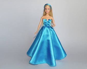 Barbie evening gown and headband - handmade
