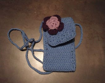Crochet mobile case