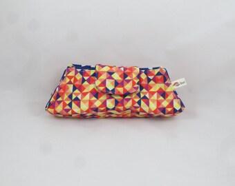 Glasses case - fabric geometric vintage