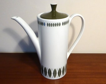 "Myott Ironstone coffee pot in ""Sherwood design"" - original from the 1960s"