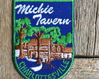 LAST ONE! Michie Tavern, Charlottesville, Virginia Vintage Souvenir Travel Patch from Voyager