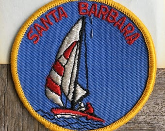 Santa Barbara Vintage Souvenir Travel Patch from Holm Patches