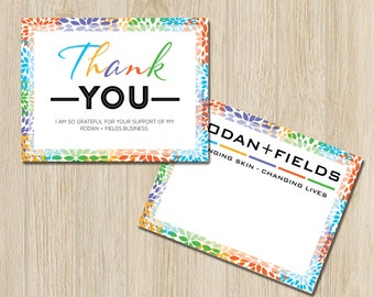 PRINTABLE Rodan and Fields Thank You Card, Rodan + Field Thank You Note, Thank You Post Card / Instant Download RF007