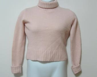Slouchy Pink Turtleneck Sweater
