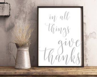 In All Things Give Thanks|Wood Sign
