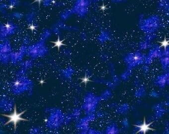 Elizabeth's Studio 'In Space' 1299 Blue Quilting Fabric