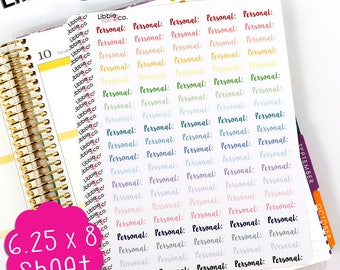 LS285 Pale Written Personal!  Perfect for the Erin Condren, Plum Paper, Mambi or Happy Planner!!!