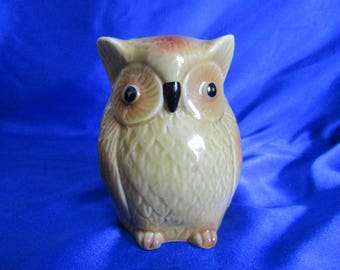 Vintage Owl Money Box with Stopper