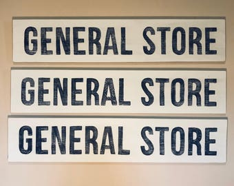 General Store Home Decor Sign