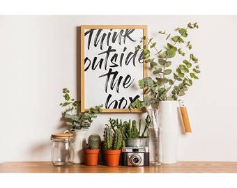Think outside the box - A4 print - home decor