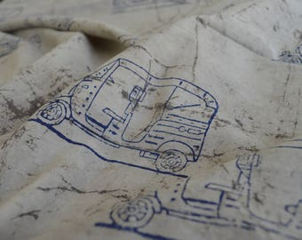 Hand Printed Indigo Fabric, Block Printed, Indian Fabric, Cotton Fabric, Fabric By Yard, Kashish Dyed, Hand Block Print Fabrics
