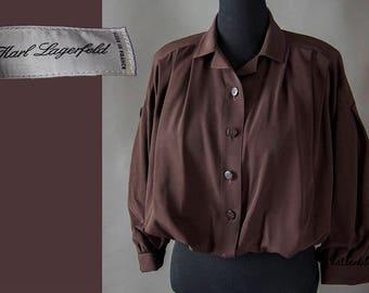 Vintage 70's Karl Lagerfeld Jacket, 50's Vintage Style Jacket ,  70's Blouson Design Bomber Jacket, Vintage Designer Lagerfeld Jacket