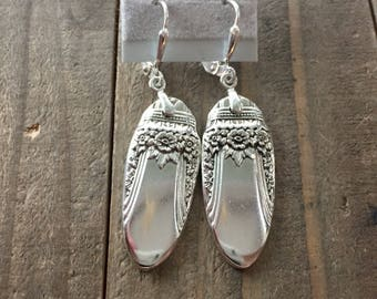 silverware earrings, spoon earrings, First love silverware, first love  earrings, 1937 silver, silver earrings, spoon jewelry, 1937 earrings