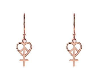 Peace and Love Earring