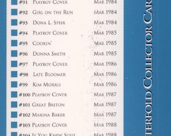 MATURE - Playboy Trading Card March Edt. 1993 - Checklist - Card #Checklist 3