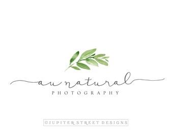 Signature Logo-Leaf Logo-Premade Logo-Nature Logo-Calligraphy Logo-Business Logo-Branding