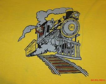 """Grateful Dead Shirt. Kids Grateful Dead Shirt. """"The Monkey and the Engineer"""" kids shirt."""