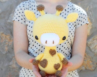 PATTERN: Cuddle-Sized Giraffe Amigurumi, Crocheted Giraffe Pattern, Giraffe Toy Tutorial, PDF Crochet Pattern