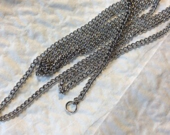 Stainless steel by the yard chain, 3x2mm link, 0.6 mm thick.
