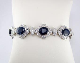 Vintage Sapphire and Diamond Bracelet