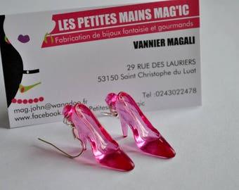 earring chic pink stiletto heel shoe