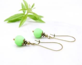 Retro earrings ~ () ~ Granny Smith ~ () ~