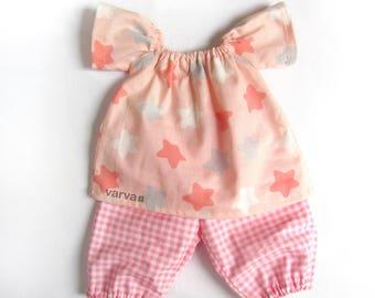 "14"" (36 cm) Waldorf baby doll pajamas. Doll Clothes, 14 inch Waldorf Doll Clothes, Baby Doll Clothes"