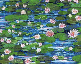 Water Garden by Northcott Fabrics - Water Lily Park - Cotton Woven Fabric