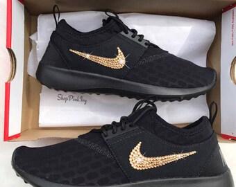 Swarovski Nike Juvenate Shoes Customized With Swarovski Crystals Bling Nike
